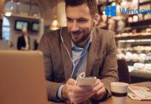 HP Elitebook in Cafe, with Windows 10